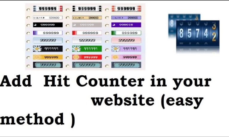 How to intergate visitor counter in your website
