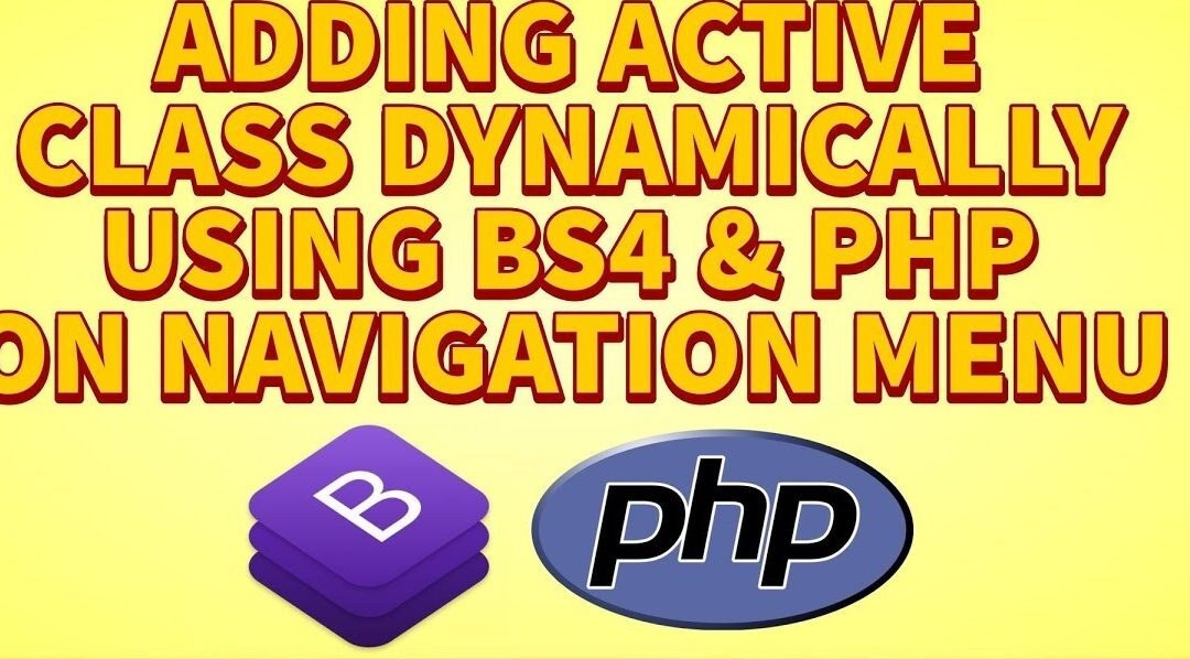 add active class dynamically using bootstrap and php on navigation menu