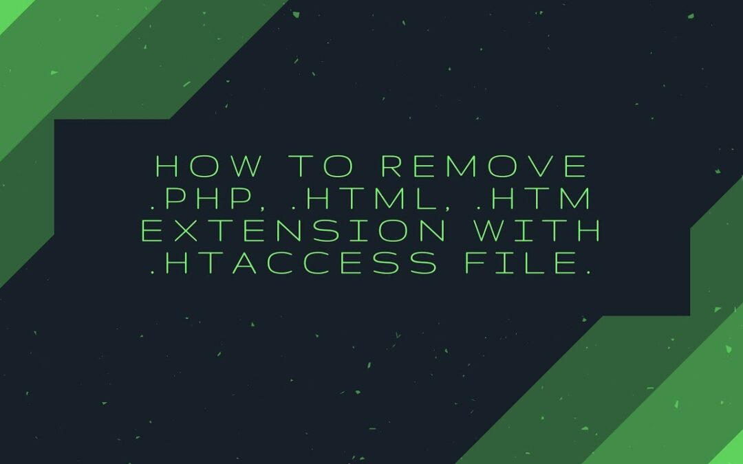 How to remove .php, .html, .htm extensions with .htaccess