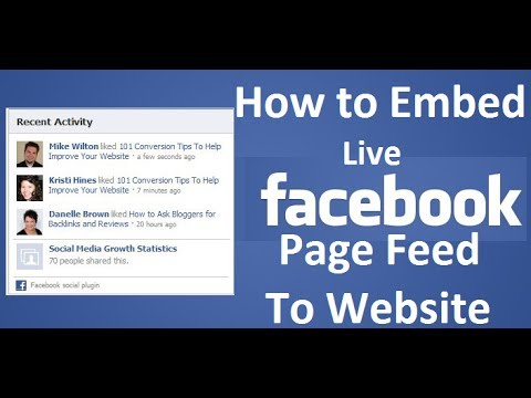 how to get your facebook feed on your website